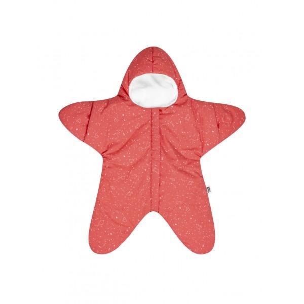 Baby Bites Sleeping Bag Star - Coral