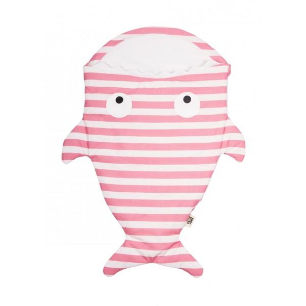 Baby Bites Βρεφικός Υπνόσακος Ψάρι - Pink Stripes  , baby bites, καρχαριες υπνοσακοι, βρεφικα ειδη, παιδικοι υπνοσακοι, βρεφικοι υπνοσακοι, υπνοσακοι ψαρια, οικολογικα βρεφικα ειδη,