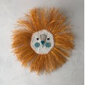 LION CROCHET CURRY-TURQUOISE FACE
