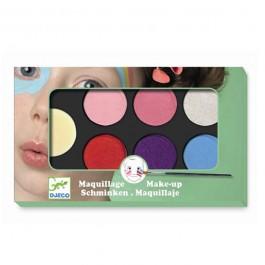Djeco παλέτα μακιγιάζ 6 χρώματα 'Παστέλ'