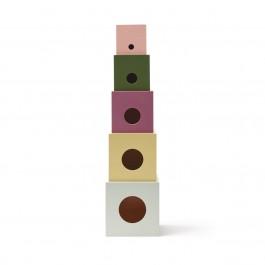Kids Concept - Ξύλινοι Κύβοι σετ των 5