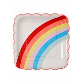 Meri Meri Paper Plate - Rainbow