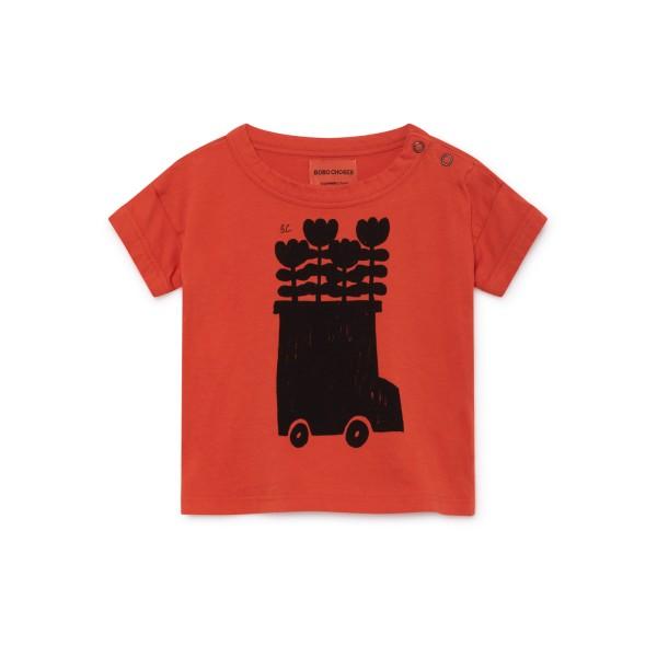 bobo choses baby short sleeve t-shirt - Flower Bus, organic clothes for kids, organic clothes for babies, kiss wear, the meet market,