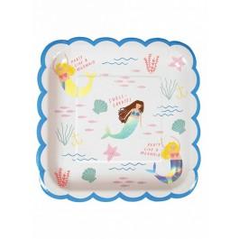 Meri Meri Paper Plate - Let's be Mermaids