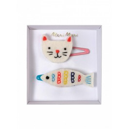 Meri Meri Clip for Hair - Cat & Fish