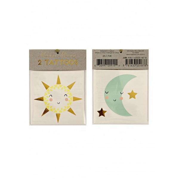 Meri Meri Kids Tattoo - Sun & Moon