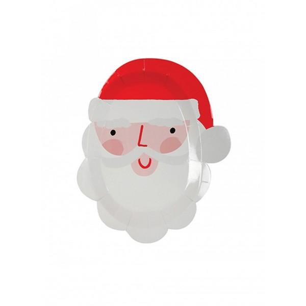 Meri Meri Paper Plate - Santa