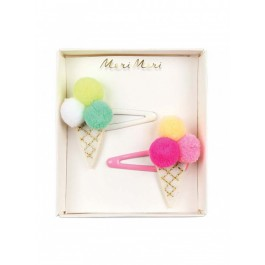 Meri Meri Clip for hair Ice Cream Pom Pom
