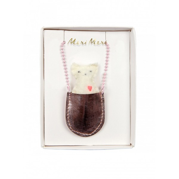Meri Meri Necklace - Cat in the pocket