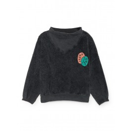 Bobo Choses Happy Sad Rib Collar Sweatsh, organic kids, organic kids wear, organic clothes for kids, bobo choses,