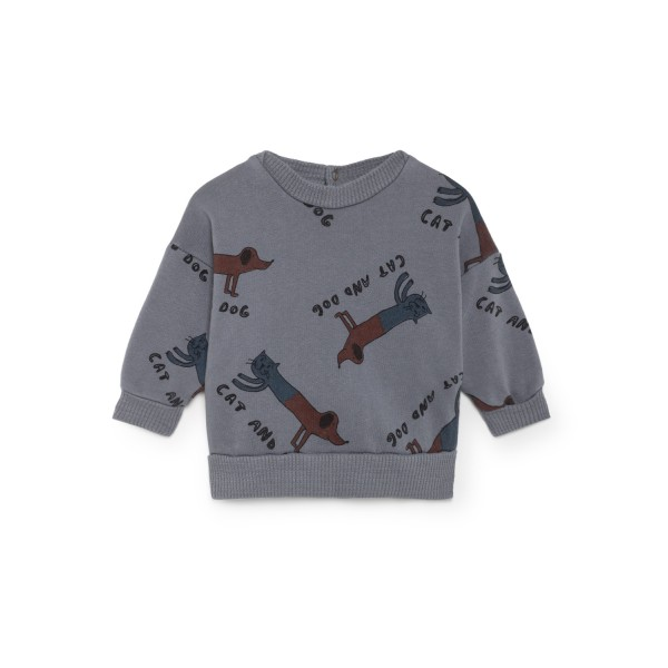Bobo Choses Round Neck Sweatshirt - Cats and Dogs