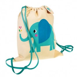 Drawstring bag - Elvis the elephant, bags for kids, accessories for kids, elephant, backpacks for kids, bags for children, schoolbags, backpacks for swimming pool, bags for walk, eco friendly kids bags,