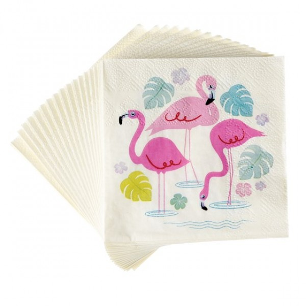 Cocktail Napkins Pack of 20 - Flamingo Bay