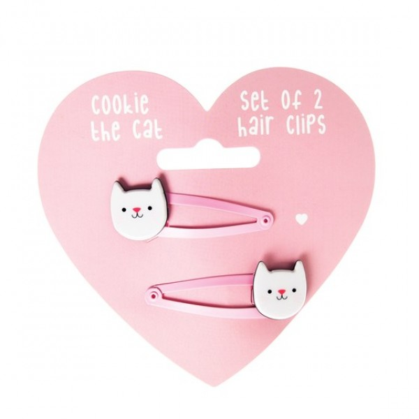 Cookie the cat - Hair-clips