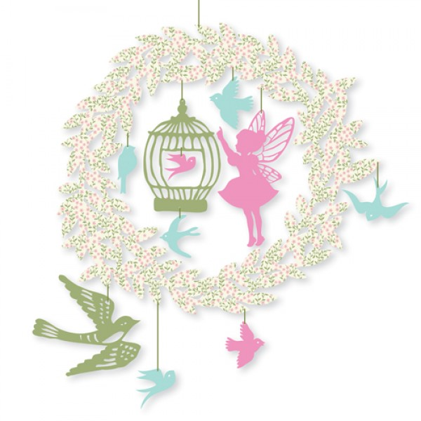 Djeco Decorated Garland - Fairy-tail, babes room, kids room decorated, rooms for girls,