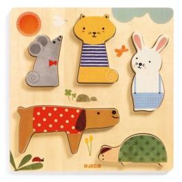Djeco Wooden Puzzle - Animals