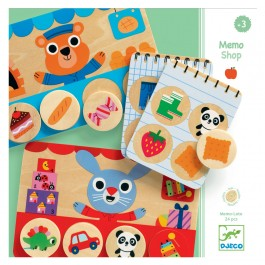 Djeco Lotto Game - Memo Shop , cow makes moo, kids, kids store, kids shop, game for kids, wooden toy, eco friendly kids,