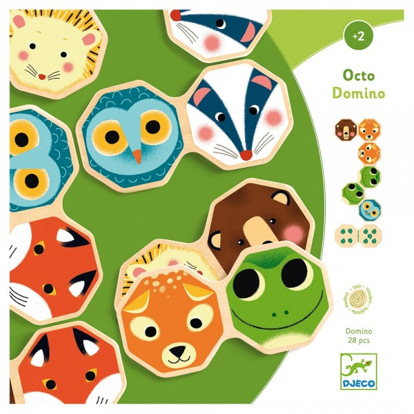 Djeco Educational wooden games Octo Domino