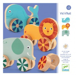 Djeco Early learning Vis'n'roll, quality toy