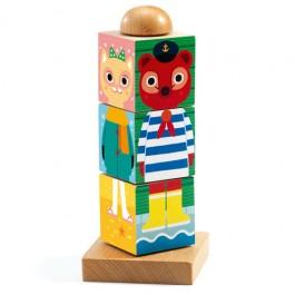 Djeco Wooden puzzles blocks Twistanimo