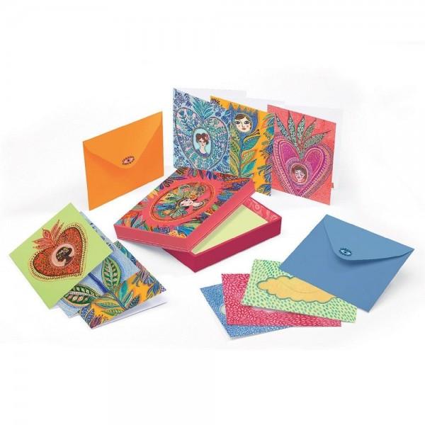 Djeco Σετ 10 Κάρτες Ευχών σε κουτί 'Aurelia' ΑΞΕΣΟΥΑΡ
