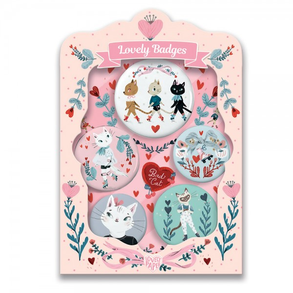 Djeco Lovely Badges - Cats