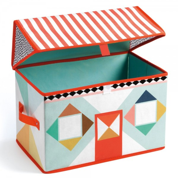 Djeco Storage Box for toys  - House - Colors , storage toys, storage box, kids room, kids shop