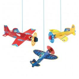 Djeco Κατασκευή με χαρτί 'Διακοσμητικά κρεμαστά αεροπλανάκια'