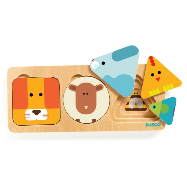 Djeco Wooden Puzzle - Animals, my first puzzles, puzzle, djeco puzzle, toys for kids, kids shop