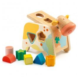 Djeco Ταξινόμησης κουτί αγελάδιτσα σχήμα χρώμα μέγεθος