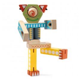 Djeco Ξύλινο Εκπαιδευτικό παιχνίδι 'Κατασκευή ρομπότ με ελαστικές...