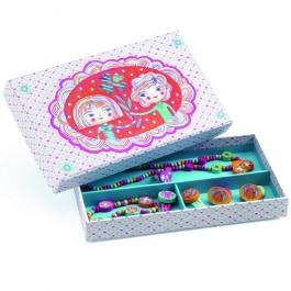 Ξύλινο σετ κοσμημάτων djeco, παιχνιδι ρολων, ξυλινο παιχνιδι, παιχνιδι για κοριτσια,