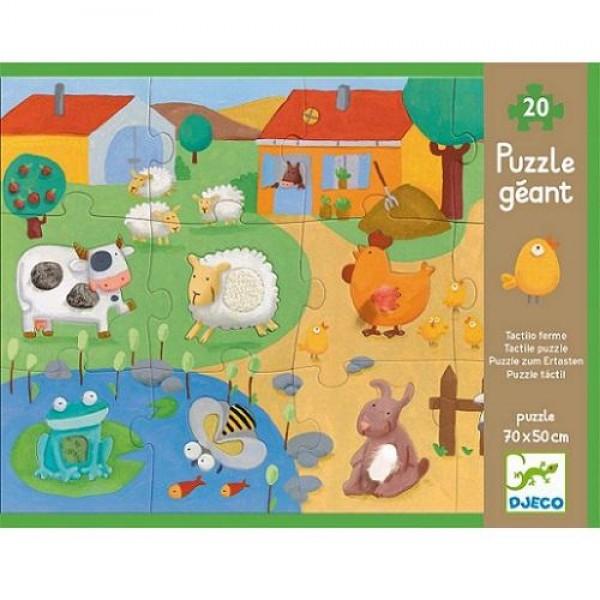 Djeco Giant puzzles Tactile farm puzzle - 20+8pcs
