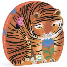 djeco Puzzle - Tiger, djeco toys, djeco puzzle, cow makes moo, kids store, kids, eco friendly,