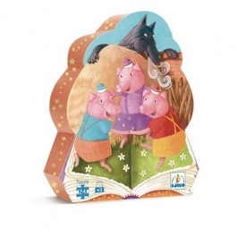djeco Puzzle - Three Little Pigs, puzzle,