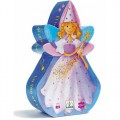 Djeco Puzzle - The Fairy & The Unicorn, kids, djeco toys, eco friendly kids toys, creative time with kids, puzzles, girls,