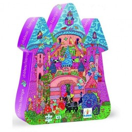 Djeco Puzzle - The Fairy Castle, cow makes moo, eco friendly kids toys, djeco toys, toys for kids, educational toys for kids,