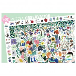Djeco Observation puzzles 1000 flowers - 100pcs