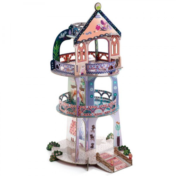 Djeco Pop to play - Tower of Wonders, eco friendly kids toys, princess, castles for princess, story, kids store,