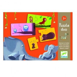 djeco Duo Puzzle - Mum & Kid, cowmakesmoo, my first puzzle, kids, game for kids, toys for kids, toys for babies,