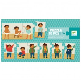 Djeco Puzzle - I am dressing up, djeco toys, djeco greece, quality toys for kids, kids toys, creative time with kids, eco friendly kids toys