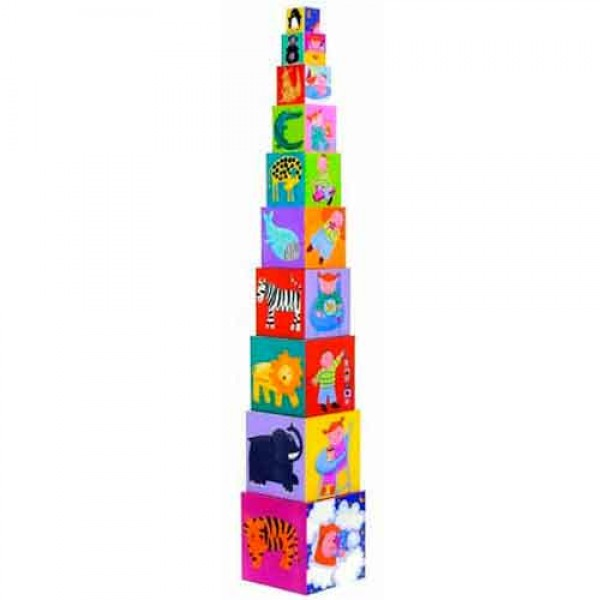 Djeco Cubes for infants 10 funny blocks