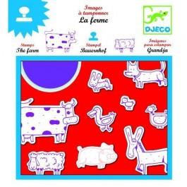 Djeco Σφραγίδες σχεδίων 'ζωάκια φάρμας'