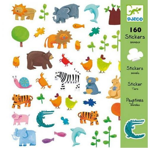 Djeco Stickers - Animals, cow makes moo, sticker, eco friendly kids toys,