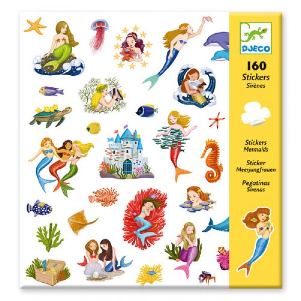 Djeco Small gift - Stickers Mermaids
