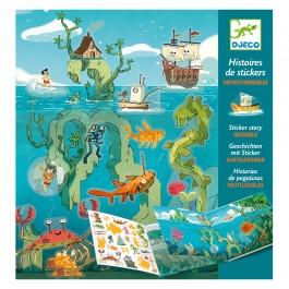 Djeco Δημιουργώ ιστοριές με 50 αυτοκόλλητα 'Περιπέτειες στη θάλασσα'