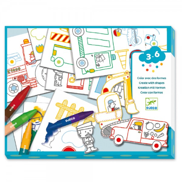 Design For little ones - Create with shapes A world to create, cars