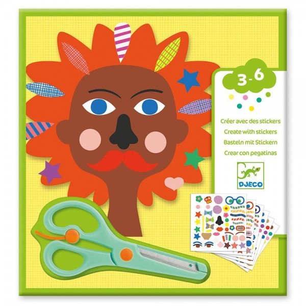 Djeco Design Small gifts - Stickers Hairdresser