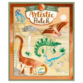 Djeco Artistic Κολάζ με μεταλλικά φύλλα χρυσού 'Δεινόσαυροι'
