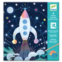 Djeco Small gifts - Scratch cards Cosmic mission